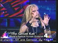 "The Great Kat on NBC TV's ""WEEKEND TODAY IN NY"" TV SHOW! ""The Great Kat"" World's Fastest Female Guitarist"