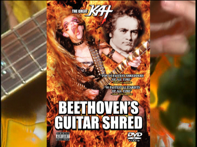 """THE GREAT KAT TV COMMERCIAL for """"BEETHOVEN'S GUITAR SHRED"""" DVD - """"TOP 10 FASTEST SHREDDERS""""! Featuring The Great Kat's """"THE FLIGHT OF THE BUMBLE-BEE""""! ENERGIZE NOW!! https://youtu.be/A39ikZndYJY"""