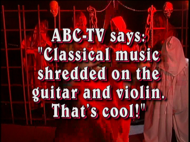 PAGANINI'S CAPRICE #24 - THE GREAT KAT TV COMMERCIAL for BEETHOVEN'S GUITAR SHRED DVD! PAGANINI & THE GREAT KAT - HISTORY'S ONLY DOUBLE GUITAR/VIOLIN VIRTUOSOS!