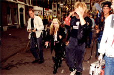 THE GREAT KAT STORMS THE STREETS OF HOLLAND WITH TV ENTOURAGE DURING KAT INTERVIEW!