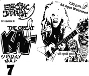 """WORSHIP ME OR DIE!"" ERA'S THE GREAT KAT'S HYPERSPEED TOUR POSTER for SHOW at ELECTRIC BANANA in PITTSBURGH, PA!"