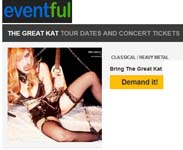 BRING THE GREAT KAT SHRED TOUR TO YOUR CITY! DEMAND IT NOW AT EVENTFUL!