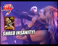 "SHRED INSANITY! THE GREAT KAT GUITAR GODDESS PREVIEW for ""EXTREME GUITAR SHRED"" DVD!!"