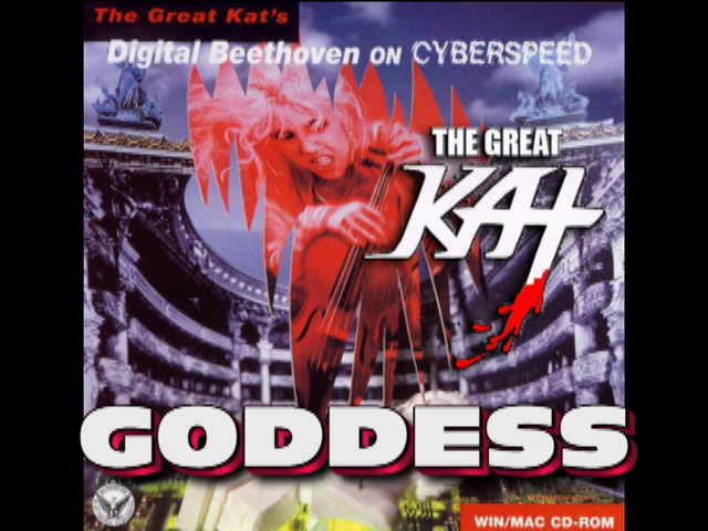 """The Great Kat's """"GODDESS"""" VIDEO - Featuring SONG from """"DIGITAL BEETHOVEN ON CYBERSPEED"""" CD/CD-ROM!"""