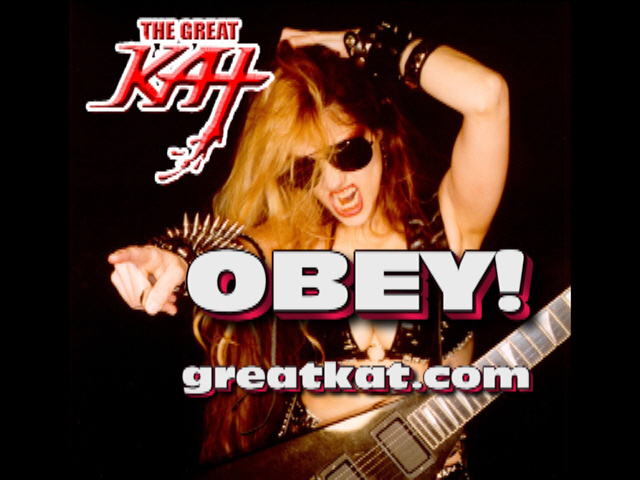 "The Great Kat's ""GODDESS"" VIDEO - Featuring SONG from ""DIGITAL BEETHOVEN ON CYBERSPEED"" CD/CD-ROM! ""OBEY!"""