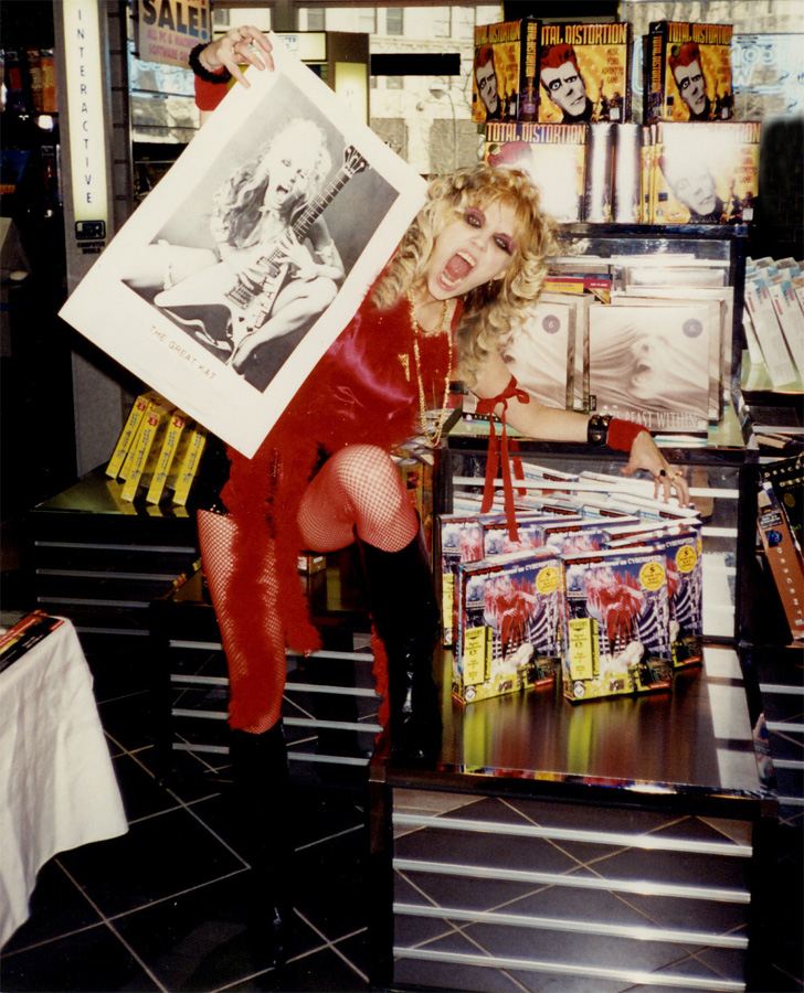 """THE GREAT KAT CYBERSPEED GODDESS at """"DIGITAL BEETHOVEN ON CYBERSPEED"""" IN-STORE CD/CD-ROM SIGNING at J&R STORE in NYC!"""