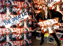 THE GREAT KAT'S FAMOUS BLOODY, SHREDDING IN-STORE APPEARANCE IN CHICAGO!