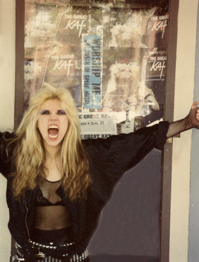 "The Great Kat Is ""THE QUEEN OF SPEED METAL"" SHREDDING on The Great Kat Tour!!"
