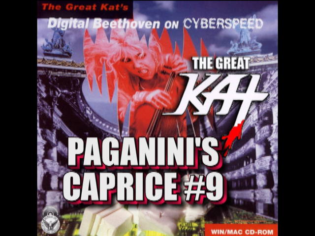 """PAGANINI'S """"CAPRICE #9""""! Paganini & The Great Kat are HISTORY'S ONLY Double Violin/Guitar Virtuosos! The Great Kat IS the VICIOUS VIOLIN VIRTUOSO!!! WATCH AND WORSHIP at http://youtu.be/3-0ii9w1JWs"""