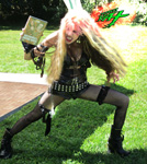 "THE GREAT KAT SUPER HERO!!! Great Kat BRUTALLY SHREDS ""BEETHOVEN'S GUITAR SHRED"" DVD at THOMAS PR EVENT"