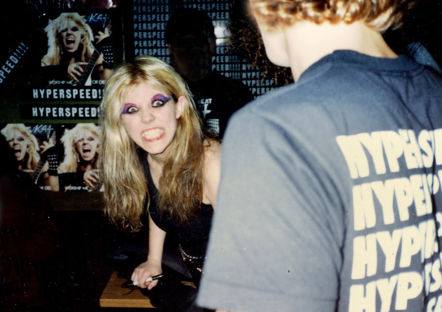 """The Great Kat Signing Autographs on the """"WORSHIP ME OR DIE!"""" TOUR!! """"GET READY FOR HYPERSPEED!"""""""