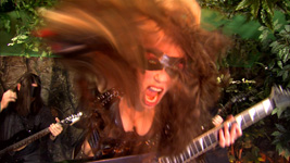 """MUSIC VIDEO PHOTOS of THE GREAT KAT'S ROSSINI'S """"WILLIAM TELL OVERTURE""""!"""
