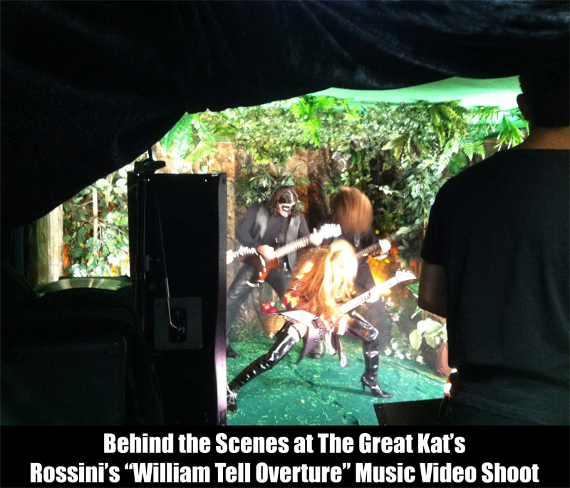 """BEHIND THE SCENES at THE GREAT KAT'S ROSSINI'S """"WILLIAM TELL OVERTURE"""" MUSIC VIDEO SHOOT!"""