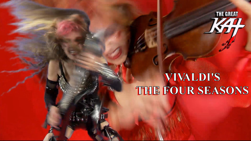 "THE JUILLIARD SCHOOL'S ALUMNI NEWS FEATURES THE GREAT KAT! ""In October, Katherine Thomas, a.k.a. the Great Kat (Pre-College; Diploma, violin) released her music video of Vivaldi's Four Seasons on iTunes."" - The Juilliard School's Alumni News"