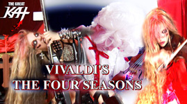 "MUSIC VIDEO PHOTOS of THE GREAT KAT'S VIVALDI'S ""THE FOUR SEASONS""!"