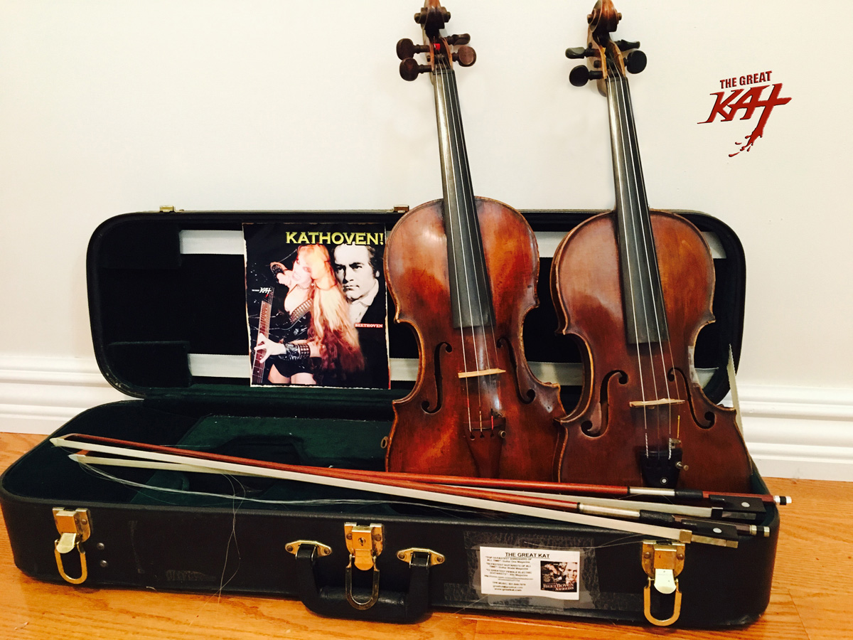 KATHOVEN Violins (GERMAN 1850 & IRISH VIOLIN 1800s) getting ready for New Great Kat Recording!