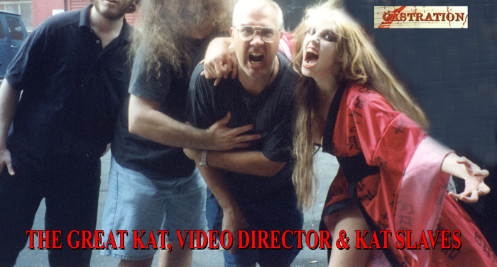 """FILM WRAP PARTY for THE GREAT KAT, VIDEO DIRECTOR & KAT SLAVES at """"CASTRATION"""" Music Video Filming"""