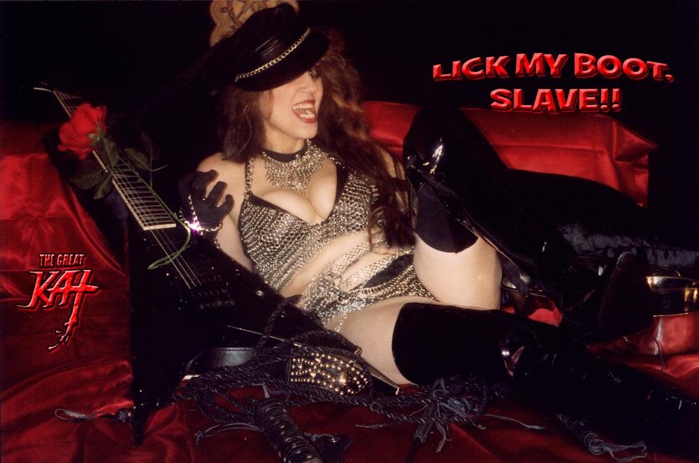 LICK MY BOOT, SLAVE!!