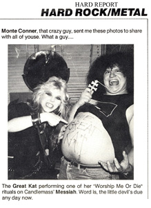 WORSHIPPING KAT PHOTO! Candlemass' Messiah WORSHIP The Great Kat METAL MESSIAH from Hard Report!