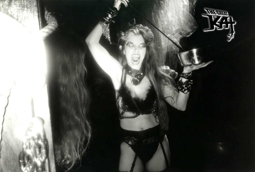 THE GREAT KAT'S WILLING VICTIM!