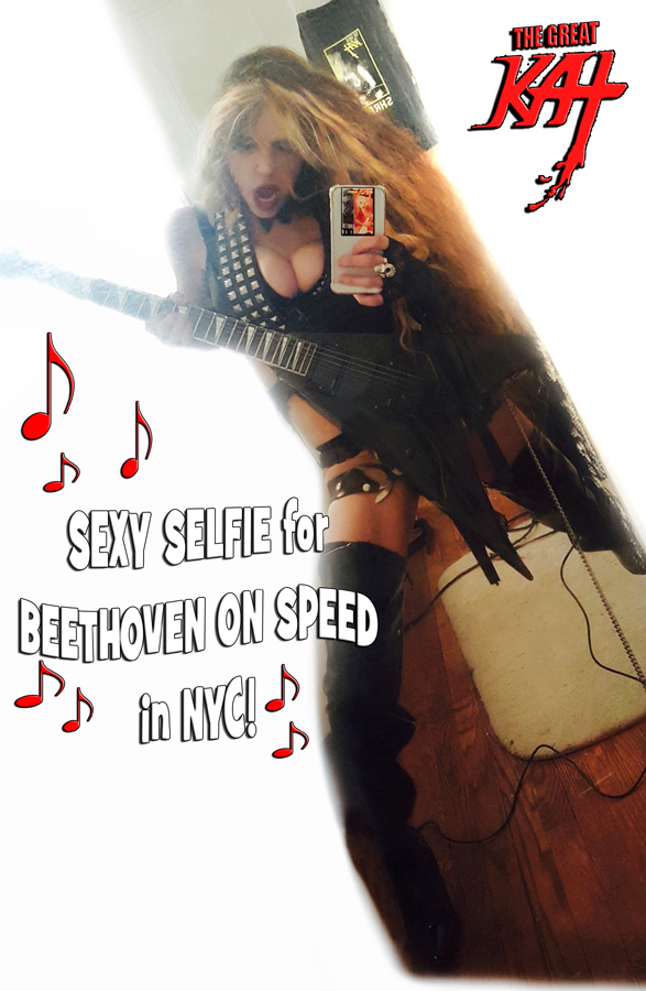 SEXY SELFIE for BEETHOVEN ON SPEED in NYC!