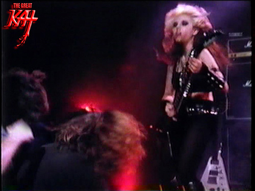 "HIGH SPEED HANGOVER SHOW FEATURES THE GREAT KAT! ""The Great Kat. She graduated from Juilliard on violin. She's a very classically trained guitar player. She started playing shred thrash metal, which is f**king awesome. She's a bloody awesome musician. 'Metal Messiah' by The Great Kat from 'Worship Me Or Die!' album, is a f**king great album, so bloody check that out.  The Great Kat is a frickin' legend. She's a Metal Amazon. She's a f**king beast."" - DJ Grey and Liam Fra, High Speed Hangover Show."