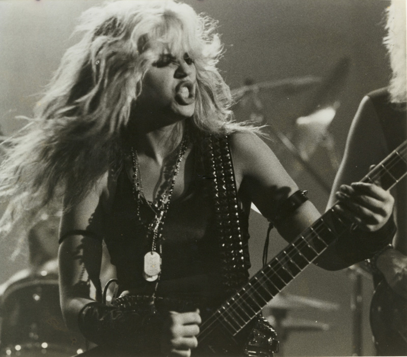 """METAL MESSIAH"" MUSIC VIDEO'S FAMOUS GREAT KAT PHOTO from the ""WORSHIP ME OR DIE!"" ERA!"