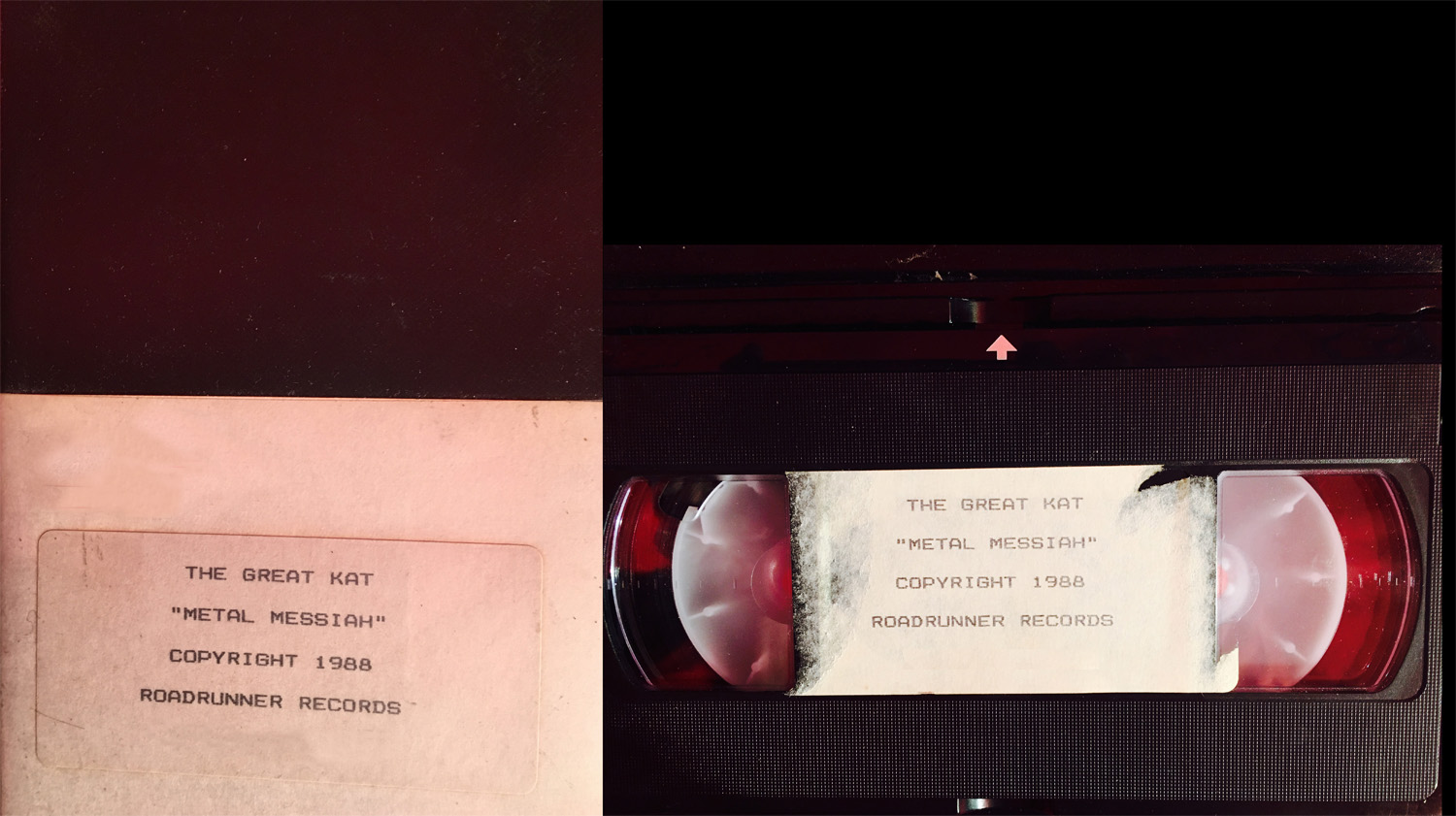 "METAL HISTORY! ORIGINAL VHS Video of The Great Kat's LEGENDARY ""METAL MESSIAH"" Music Video from ""WORSHIP ME OR DIE!"" METAL! METAL! METAL MESSIAH!"