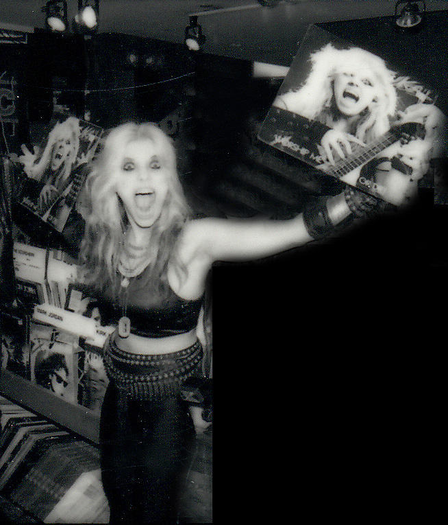 "THE GREAT KAT HYPERSPEED GODDESS at TOWER RECORDS NYC WAKING UP the MASSES to ""WORSHIP ME OR DIE!"" VINYL RECORD!"