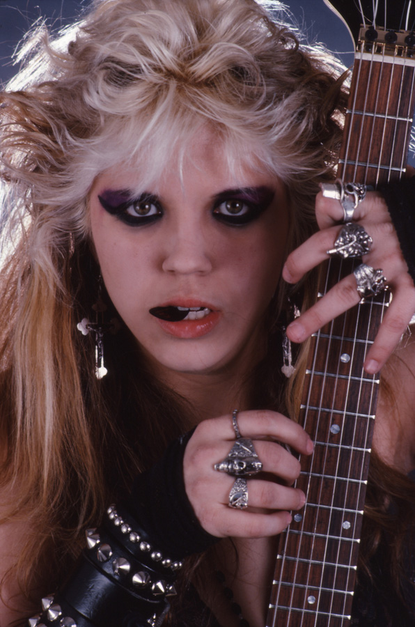 """RARE METAL HISTORY!!! """"WORSHIP ME OR DIE!"""" ERA'S CUTE AS A BUTTON METAL GODDESS READY to SHRED!"""