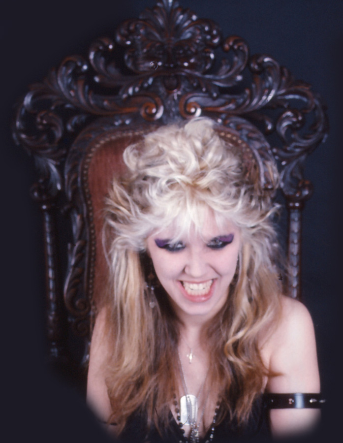 "RARE METAL HISTORY!!! THE GREAT KAT METAL GODDESS HAVING FUN at ""WORSHIP ME OR DIE!"" PHOTO SHOOT!"