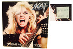 "The Great Kat's personal copy of ""WORSHIP ME OR DIE!"" LP with Original Date/Price Sticker: ""11/30/87 $8.49 Ea""! AWESOME"