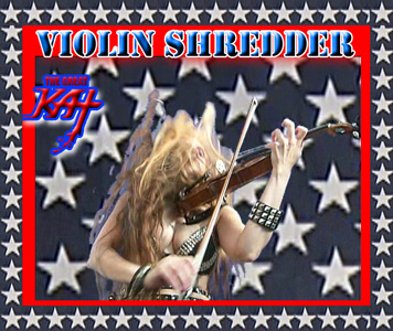 "SIRIUS XM RADIO FEATURES THE GREAT KAT'S ""ZAPATEADO"" on Sirius XM's ""Bloody Roots: A Metal Lesson in Violins""! ""Prepare for a lesson in metal violins you won't soon forget. Hectic arpeggios of violin shredder The Great Kat. The Great Kat-'Zapateado' from WAGNER'S WAR"". ""Female shredder named The Great Kat, who actually began life as a Juilliard Music School violin prodigy and then discovered heavy metal guitar. Something by her returning to brutal violin."" - Ian Christe, SiriusXM Liquid Metal. ""'Zapateado' from WAGNER'S WAR"" - LISTEN NOW"