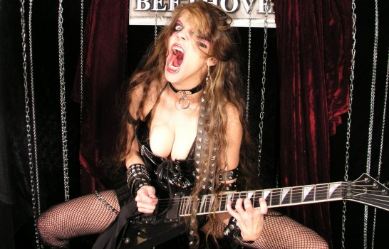 "AOL MUSIC NOISECREEP'S INTERVIEW WITH THE GREAT KAT ""THE GREAT KAT, SANGUINE SHREDDER""! ""The Great Kat is a Juilliard-trained violin virtuoso who demonstrates the complementary aspects of classical and metal through her over-the-top, dominatrix persona, her self-styled 'shred/classical' genre and her instructional DVDs. With the rarity of her gift and the minority of her gender in this genre, she's been tearing up her fretboard and blistering her fingers for plenty of years. Those who don't hop on the Great Kat express are bound to get run over!"" - Amy Sciarretto, AOL Music Noisecreep"