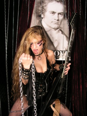 """THE FORGOTTEN SCROLL INTERVIEW WITH THE GREAT KAT! """"A beautiful woman that can shred 'Flight of the bumblebee' at 300bpm and eat your heart while doing it… literally!"""" - Asgardlord, The Forgotten Scroll"""