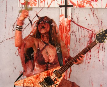 """FOUNDRYMUSIC.COM'S INTERVIEW WITH THE GREAT KAT! """"Come one, come all, to see the stupendous interview with Classical Shred Guitar virtuoso The Great Kat. If you don't, she just might bite your head off and shit down your neck while shredding some classical music with her feet. Beethoven's Guitar Shred DVD is really awesome. So if you're a fan of blood and crazy guitar work, you just might want to grab this one."""" - FoundryMusicRob, FoundryMusic.com"""