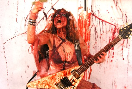 """FAB MAGAZINE'S REVIEW OF """"BEETHOVEN'S GUITAR SHRED"""" DVD! """"The Great Kat dazzles with her virtuosic high-voltage guitar technique (and penchant for heavy metal/goth) on her Beethoven's Guitar Shred DVD. Wildly entertaining."""" - fab Magazine March 2010"""