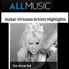"ALLMUSIC: ""GUITAR VIRTUOSO"" FEATURES THE GREAT KAT!"