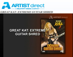 "ARTIST DIRECT Features The Great Kat's ""ZAPATEADO"" Music Video starring The Great Kat SHREDDING on Guitar AND Violin on Sarasate's MASTERPIECE!! Video from ""Extreme Guitar Shred"" DVD!"