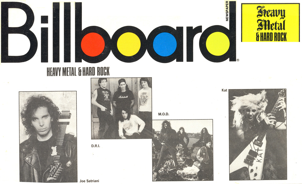 """BILLBOARD MAGAZINE FEATURES THE GREAT KAT IN """"HEAVY METAL & HARD ROCK"""" ISSUE!"""