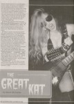 "The Great Kat Cover Story ""THE GREAT KAT DECOMPOSING WITH THE 'GOTHFATHERS'-CLASSICAL HORROR"" in California Song Magazine"