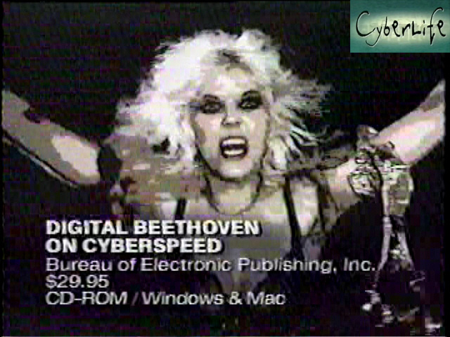 """CYBERLIFE TV SHOW ON THE DISCOVERY CHANNEL FEATURES THE GREAT KAT'S """"DIGITAL BEETHOVEN ON CYBERSPEED"""" CD-ROM/CD! """"Ludwig van for the rock 'n' roll generation. You've got to brace yourself for the frenetic female force behind Digital Beethoven On Cyberspeed. Meet The Great Kat. Beethoven's back for a whole new generation."""" - CyberLife TV Show, Discovery Channel"""