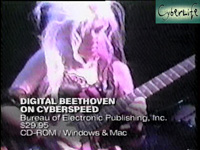 "CYBERLIFE TV SHOW ON THE DISCOVERY CHANNEL FEATURES THE GREAT KAT'S ""DIGITAL BEETHOVEN ON CYBERSPEED"" CD-ROM/CD! ""Ludwig van for the rock 'n' roll generation. You've got to brace yourself for the frenetic female force behind Digital Beethoven On Cyberspeed. Meet The Great Kat. Beethoven's back for a whole new generation."" - CyberLife, Discovery Channel"