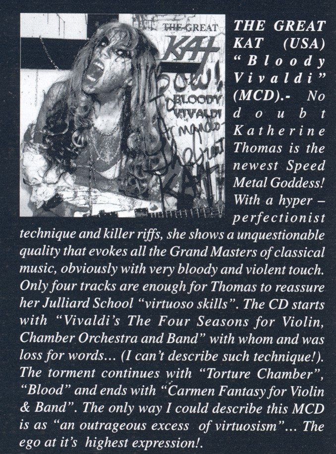 """Bloody Vivaldi"" CD Review in Deaththrasher Magazine"