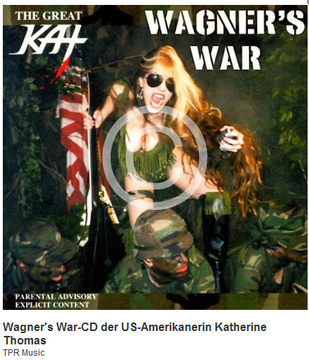 """DIEREDAKTION.DE'S REVIEW OF THE GREAT KAT'S """"WAGNER'S WAR"""" CD! """"'Wagner's War' in Heavy Metal. 'The Ride Of The Valkyries'. This is great, it is exuberant! The Great Kat, her musical power. 'Heavy and brutal Ode to War' is subtitled the second piece. Would Wagner turn over in his grave? To him, yes you can be as you want. His music was revolutionary, as well as the CD 'Wagner's War' by The Great Kat."""" - Christopher Doemges, DieRedaktion.de (Germany)"""