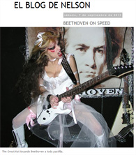 "BEETHOVEN ON SPEED ""The Great Kat tocando Beethoven a toda pastilla."""