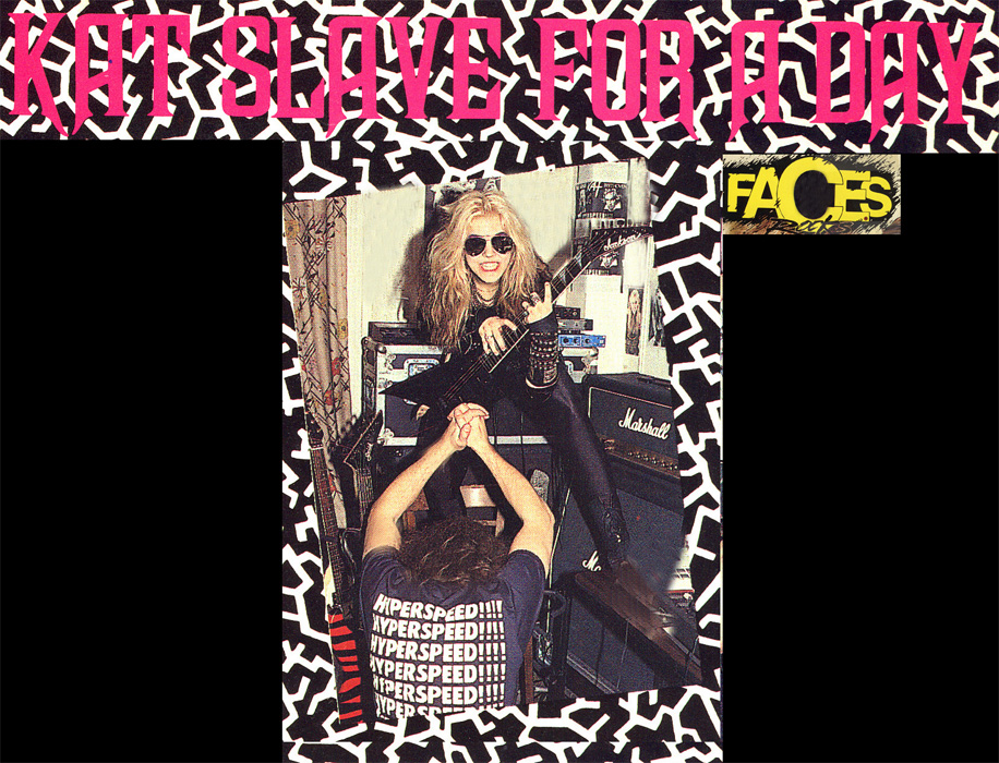 """FACES MAGAZINE FEATURES THE GREAT KAT IN """"KAT SLAVE FOR A DAY"""" by Jeff Kitts!"""