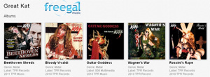 DOWNLOAD FREE GREAT KAT SHREDCLASSICAL MUSIC & DVDS with �FREEGAL� THROUGH PUBLIC LIBRARIES! The Great Kat Guitar Shredder �Top 10 Fastest Shredders Of All Time� Now Shredding Beethoven, Bach, Paganini, Vivaldi & More On Your Public Library!