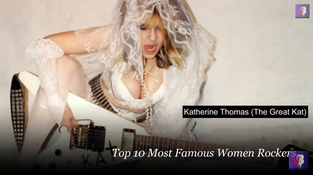 "Glitzyworld Features The Great Kat in ""Top 10 Most Famous Women Rockers""! #YouTube Video at https://youtu.be/l9suIaWuk8o"