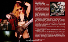 """ACCENT ON TAMPA BAY MAGAZINE FEATURES THE GREAT KAT'S """"BEETHOVEN SHREDS"""" CD! """"The Great Kat guitar goddess is the renowned Juilliard Grad Violin Virtuoso/Carnegie Recital Hall Violin Soloist turned guitar-shred virtuoso, famous for shredding exciting classical Music at astounding speeds on the guitar. Revolutionizing classical and metal at the same time."""""""